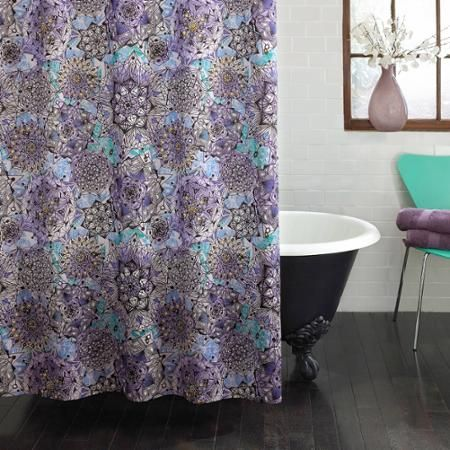 Home Fabric Shower Curtains Purple Shower Curtain Designer