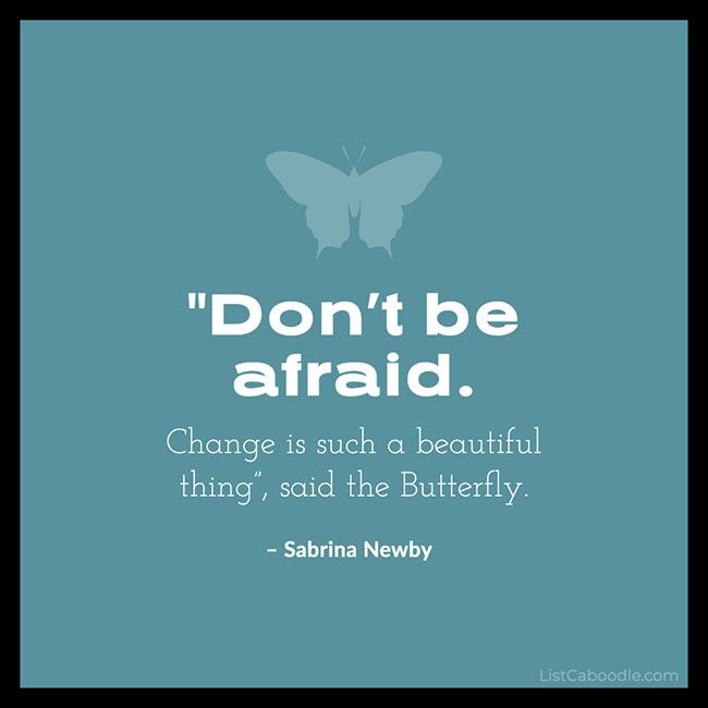Don't Be Afraid – Inspirational Quote