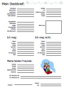 Freunde Freundebuch Seiten zum Ausdrucken | Deutsch ...