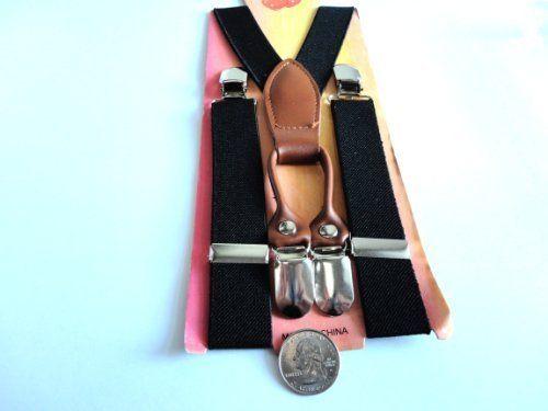 kid's suspenders child suspenders youth suspenders unisex (Black) Silk Solutions, $10
