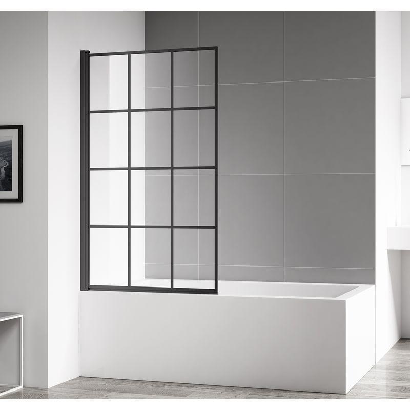 In Stock Best Prices On Bath Screen Riad 80x140cm 4mm With Nano Coating Pivot Shower Screen Curved Black Profil Schermo Doccia Box Doccia Vasca Da Bagno