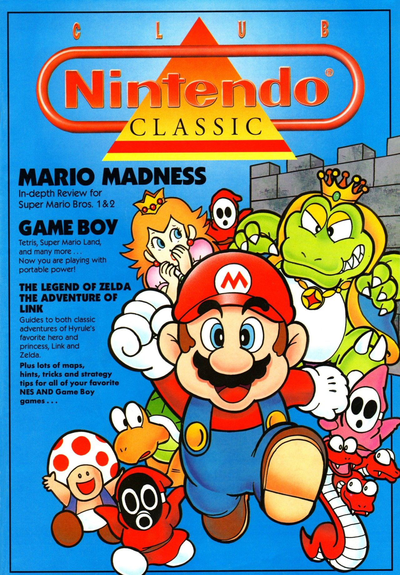 Club Nintendo, Holiday 1990 issue - http://2d802926.tinylinks.co - #NES #Nintendo #GameBoy #90s #1990s #1990