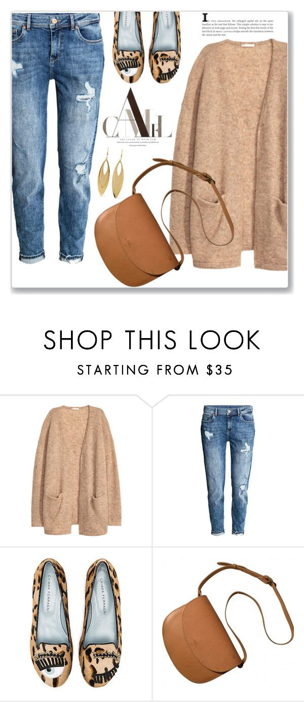 """""""Untitled #1287"""" by christinacastro830 ❤ liked on Polyvore featuring H&M, Chiara Ferragni, A.P.C. and Kenneth Jay Lane"""