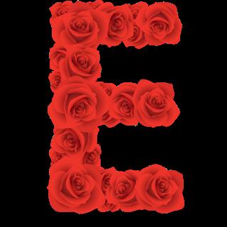 Red Roses Alphabet Letter E Numero Para Imprimir Alfabetos Elegantes Rosas Rojas