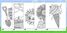 Undefined Summer Coloring Pages Mindfulness Colouring Mindfulness Colouring Sheets