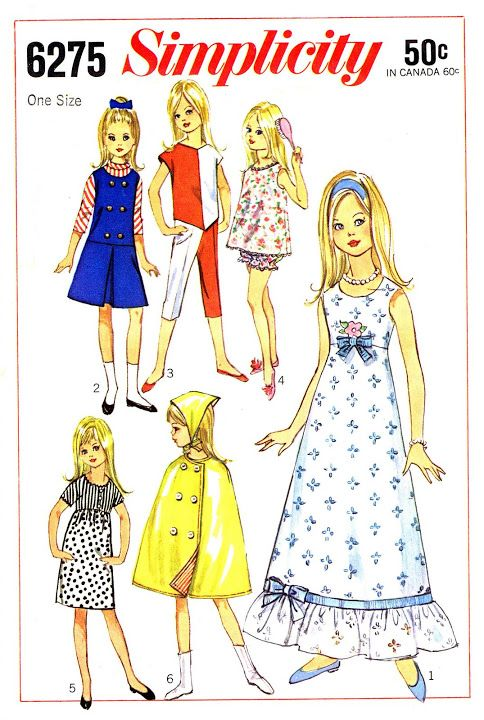Free Copy of Pattern - Simplicity 6275 - 9 inch Skipper | Revistas ...