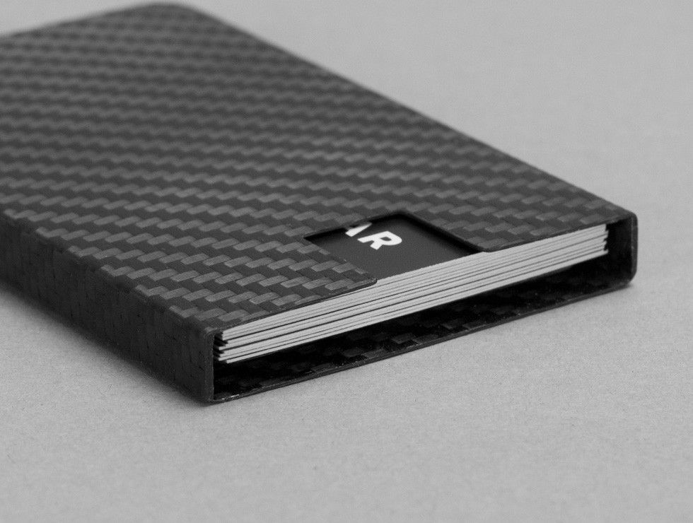 Carbon Touch Carbon Fiber Business Card Case | Business card case ...