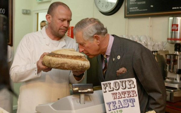 'Prince Charles smells a loaf made by Patrick Moore, Staveley, England, April 2012' @moreartisan #bread