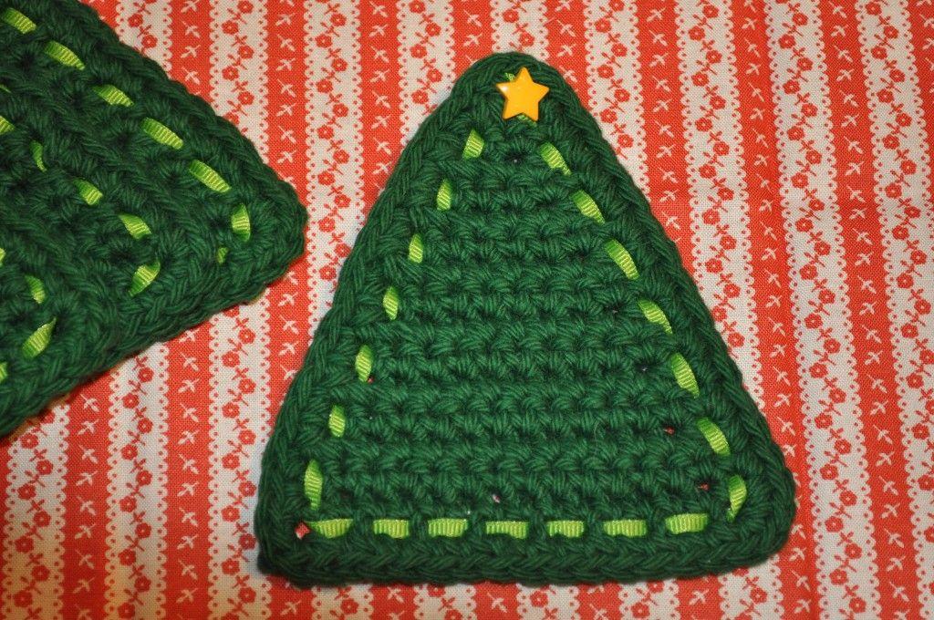 Dsc 0089 Christmas Tree Coasters Free Pattern Crochet Decor Crochet Christmas Trees Crochet Free Crochet