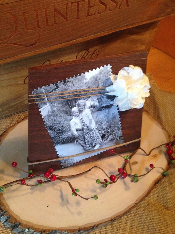 Wooden Picture Frame by CrazyDaisyGardens on Etsy