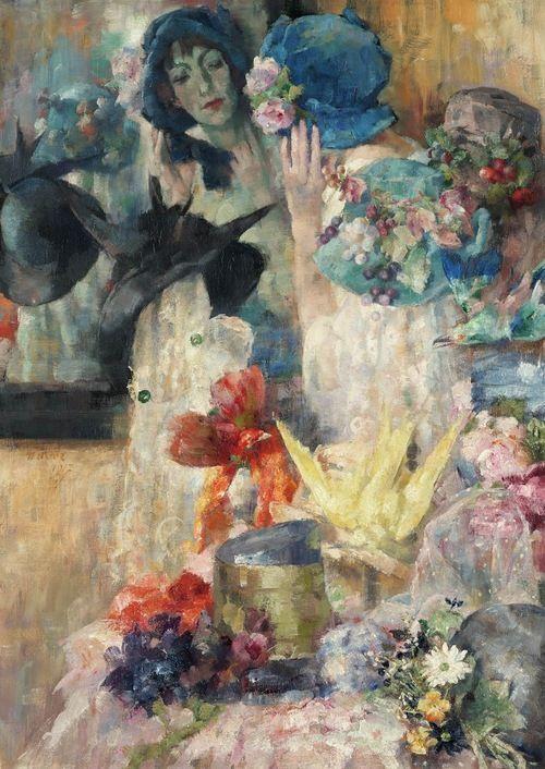Arthur Navez - The Blue Hat, 1917