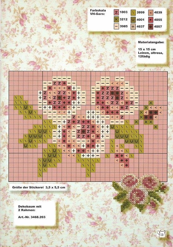 cross stitch roses