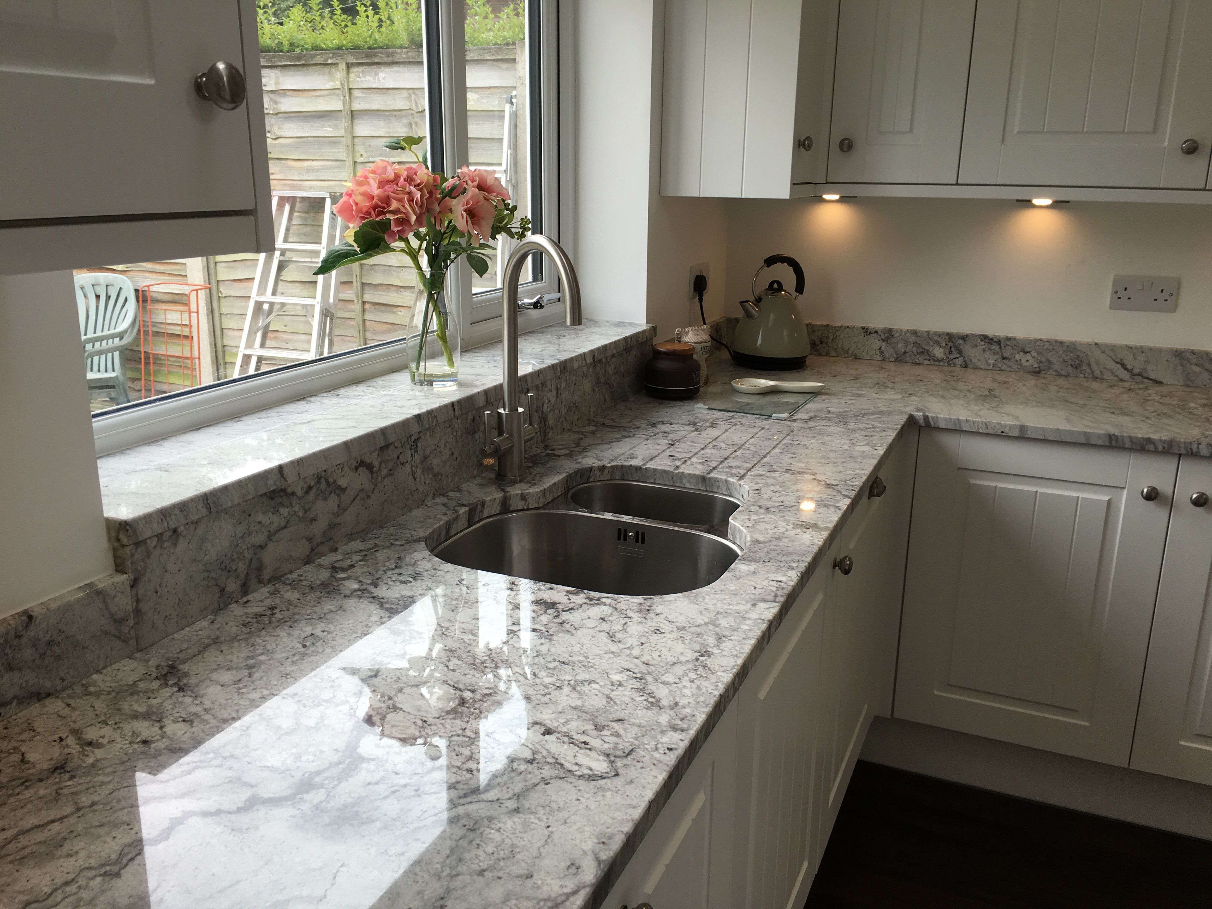 Thunder White Kitchen Kitchen Remodel Open Plan Kitchen Dining Living Kitchen