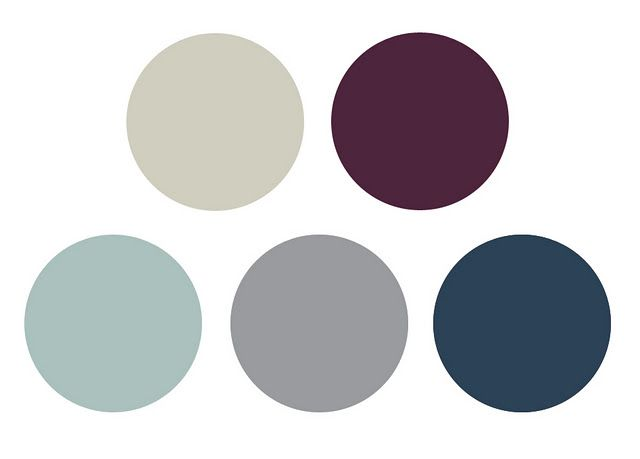 mints blues and plum