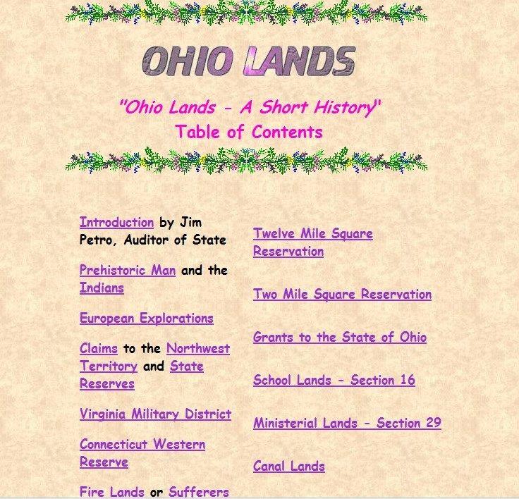 Brief History of Ohio Lands #gentipjar #genealogy #deeds Genealogy - reservation forms in pdf