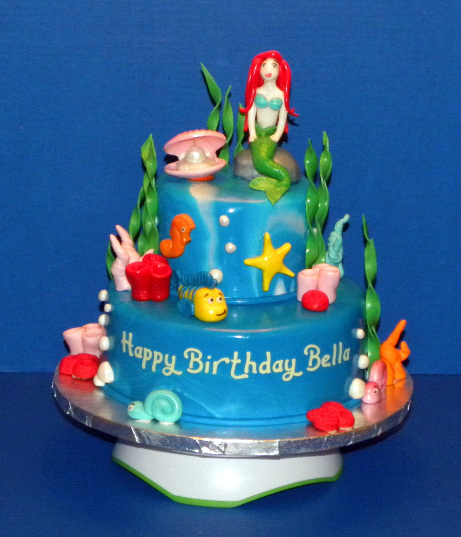 Little mermaid cake under the sea mermaid birthday
