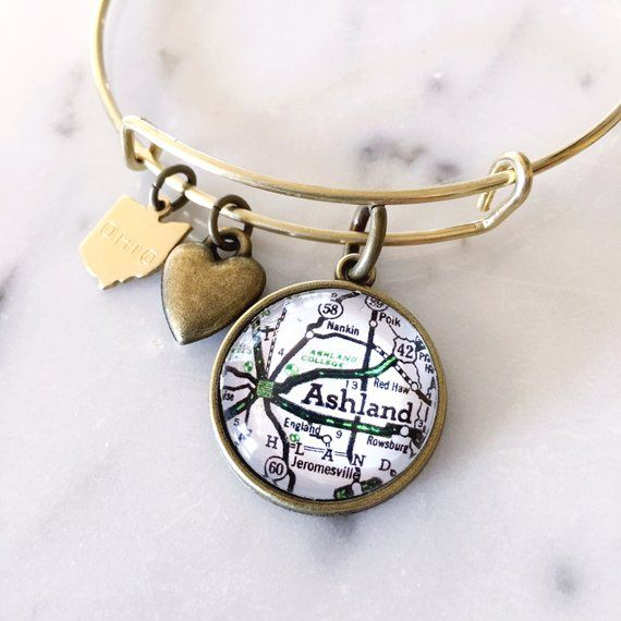 Ashland College Charm Bracelet University Graduation Gift