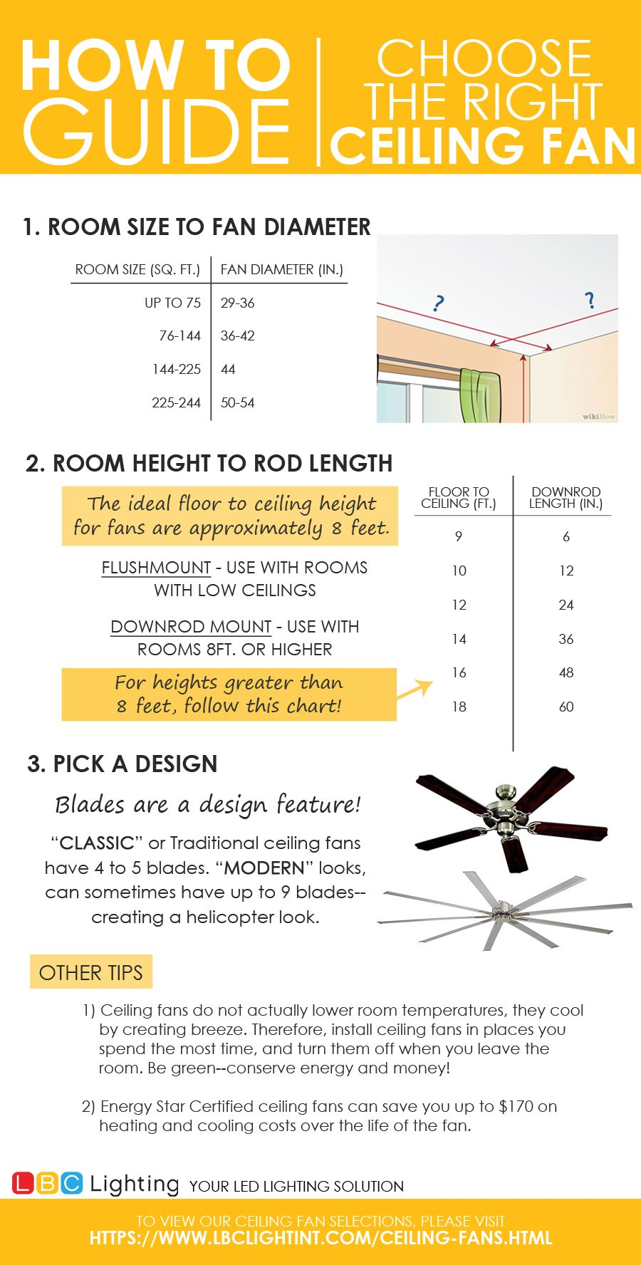 Choose The Right Ceiling Fan Howto Ceilingfan Homedecor Interiordesign Led