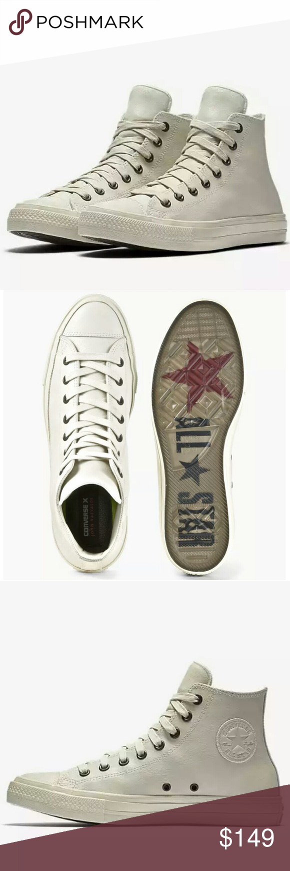 76dfca894299 CONVERSE JOHN VARVATOS CHUCK II 2 COATED LEATHER Hard to find JV with  Lunarlon for extra