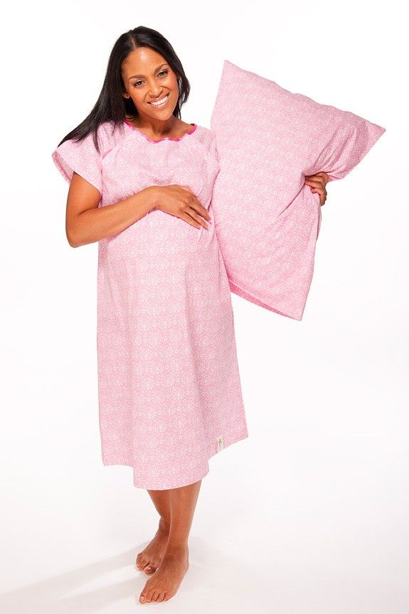 Kate Designer Hospital Gown with matching pillowcase | Baby Yost ...