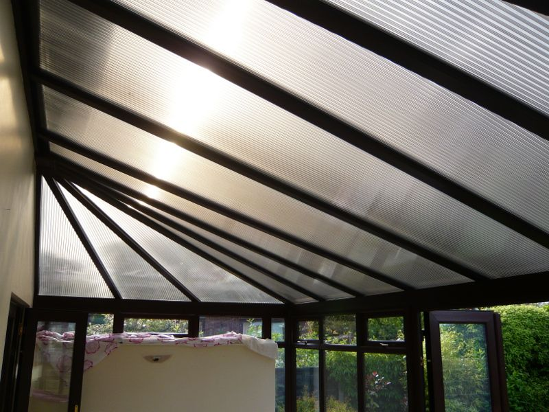 A Conservatory In Westhoughton Before We Installed Roof Insulation As You Can See There Is Terrible Glare From Sunlight As Well As Noise When It Rains And I