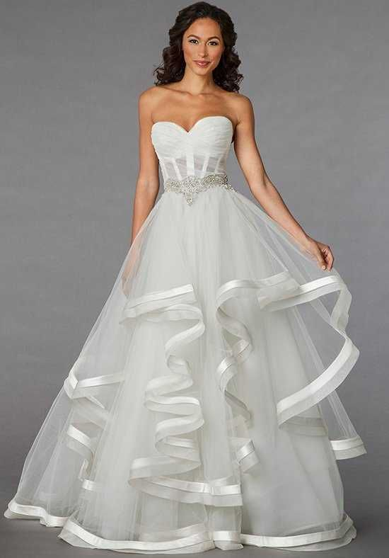 Pnina Tornai For Kleinfeld 4310 Sweetheart Princess Ball Gown Wedding Dress With Empire Waist In Organza