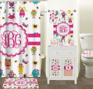 Girly Shower Curtain Sets