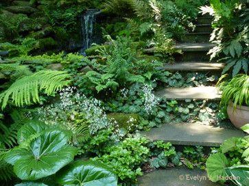 Woodland style landscaping ideas woodland garden for Woodland shade garden designs