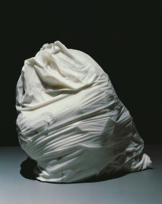 Jud Nelson, Hefty 2-Ply. 1979-1981, Marble sculpture