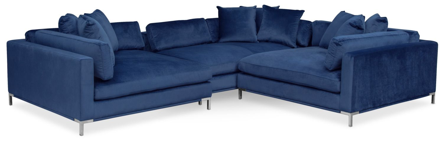 Living Room Furniture Moda 3 Piece Sectional With Right Facing