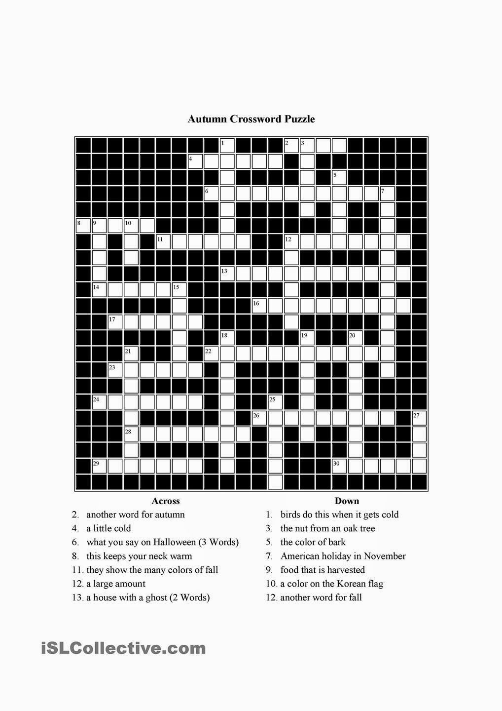 Free Printable Cards: Free Printable Crossword Puzzles ...