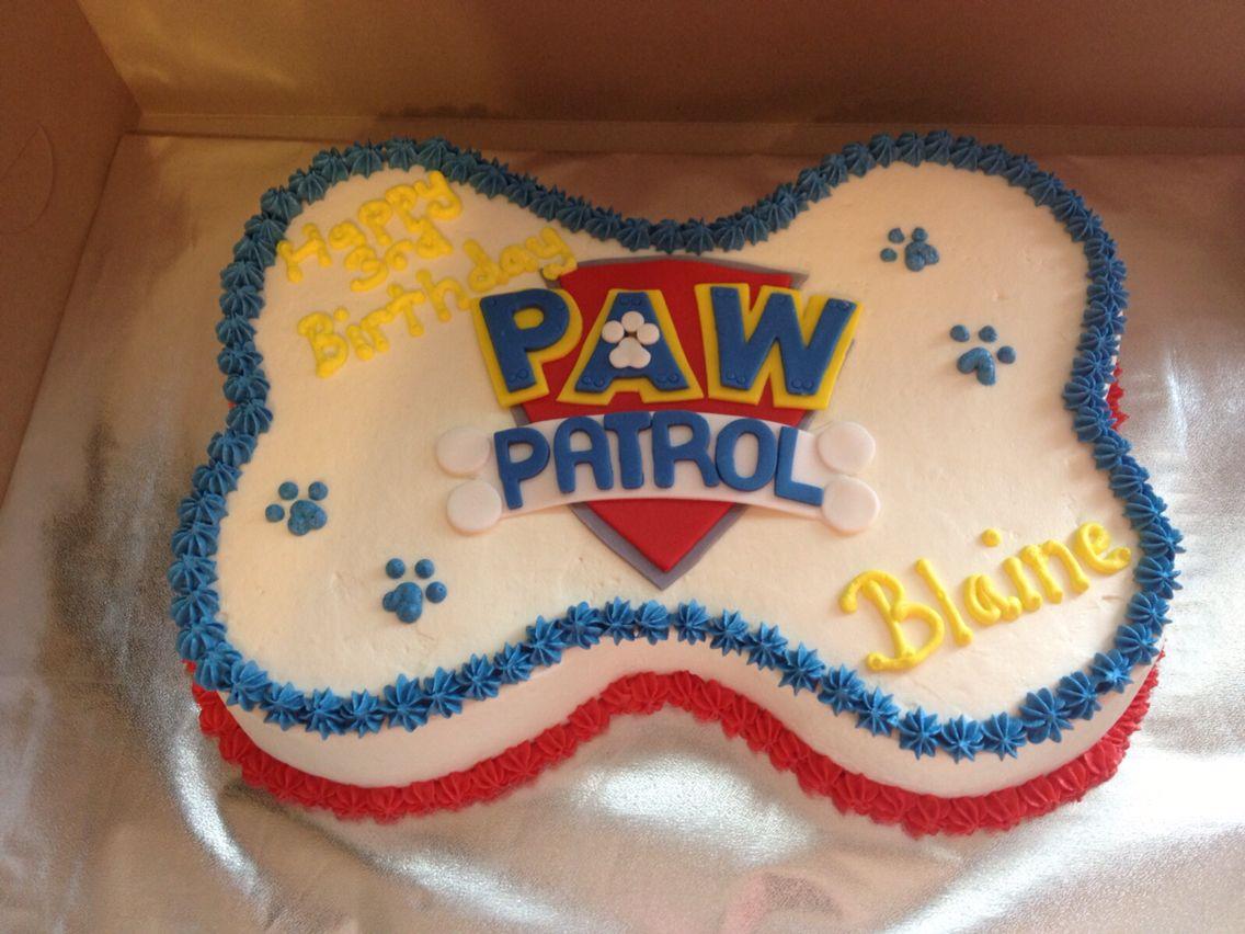 Blaines Paw Patrol Birthday Cake For Her 3rd Birthday Blaine