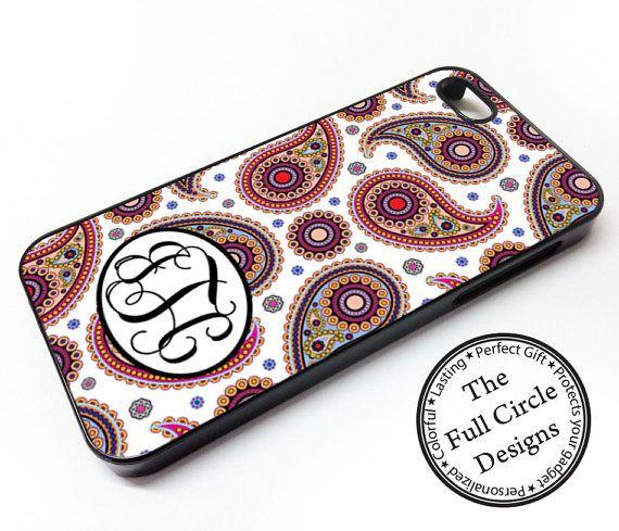 Paisley Monogrammed iPhone 5s case by TheFullCircleDesigns on Etsy, $14.99