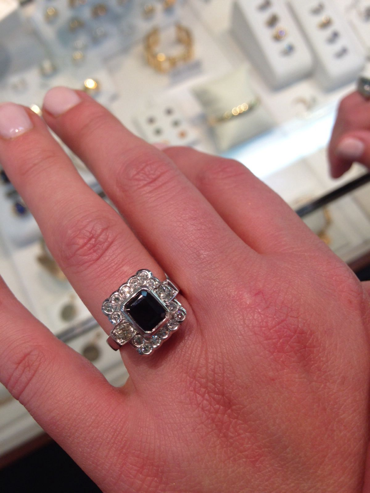 My engagement ring! My nana\'s & great grandmothers stones remade ...