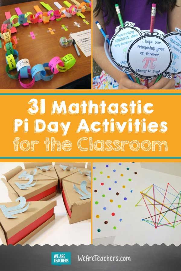 31 Mathtastic Pi Day Activities for the Classroom. Join the fun of Pi Day, celebrated on March 14 (3.14), with these awesome, teacher-tested Pi Day activities for the classroom. #activities #mathactivities #math