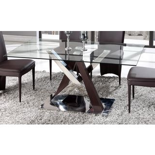 Shop For Global Furniture Wenge Mdf Chrome And Glass Dining Fair Dining Room Furniture Outlet Stores Design Ideas