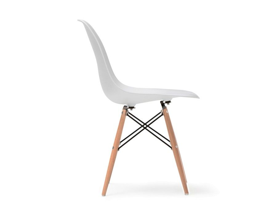 Brilliant Eiffel White Chair With Solid Beech Wood Legs Decor Dailytribune Chair Design For Home Dailytribuneorg