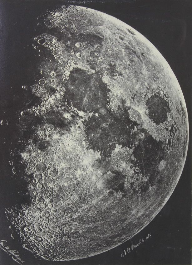 The Moon on March 6, 1865 in New York - Photographer: Lewis M Rutherfurd