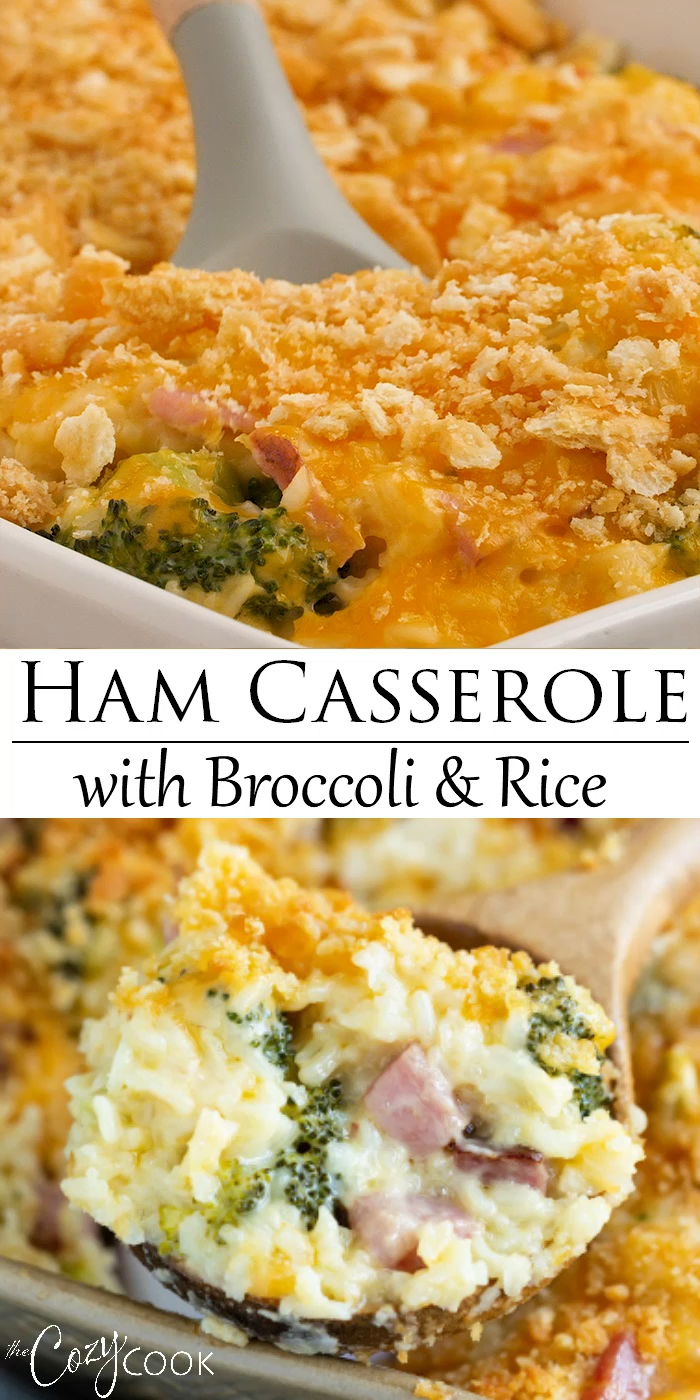 Ham Casserole with  Broccoli and Rice