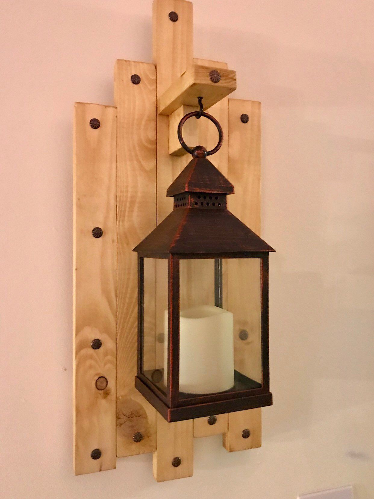 Home Decor Strong-Willed Rustic Wooden Retro Lantern Hanging Lamp Wood Decoration Candle Holder Table Vintage Online Discount Home & Garden
