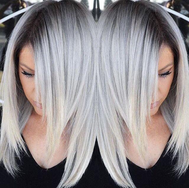 Silber haarfarbe  Pin von Code_RedX0 auf Hair & styles | Pinterest | Haar ...