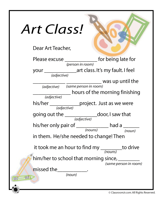 This is a graphic of Adorable Free Printable Mad Libs for Middle School Students
