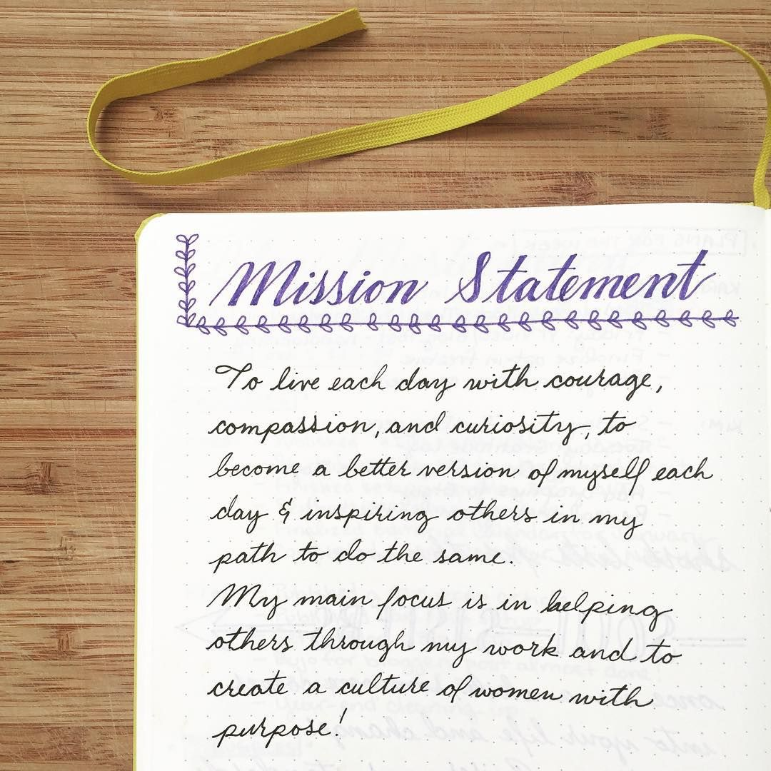 New Year Bullet Journal Boho Berry Personal Mission Statement Example Quotes Commitment