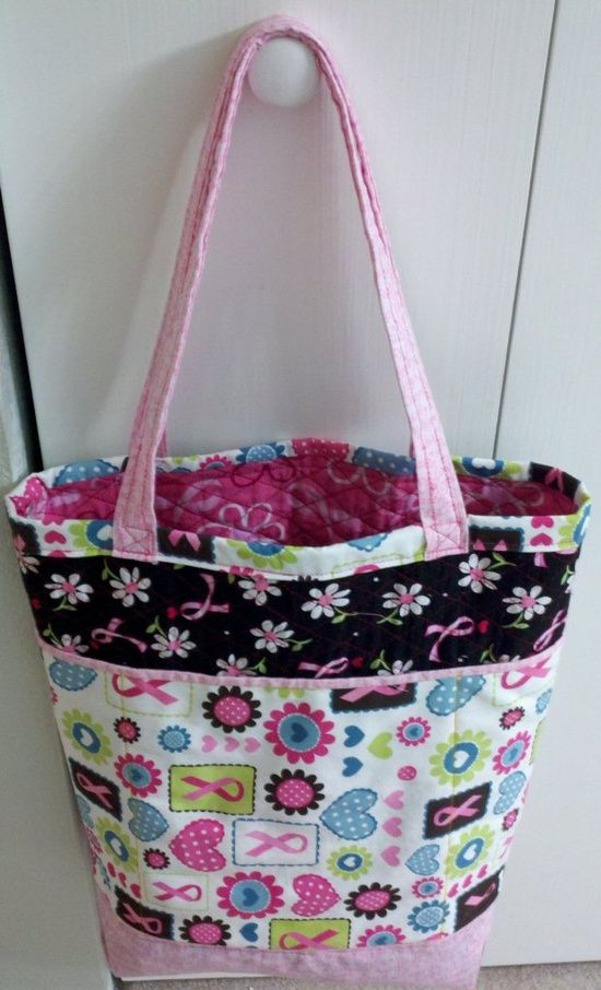 Free Tote Bag Pattern - The Fancy Shopper Bag | fabric buckets ...