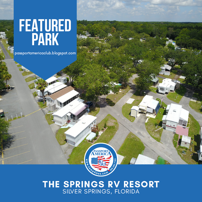 Named After The Surrounding Artesian Springs The Springs Rv Resort Is The Perfect Resort For Rvers Looking For A Nat In 2020 Resort Silver Springs Florida Campgrounds