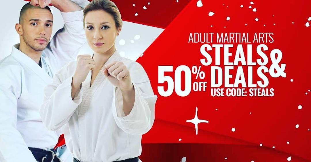 HURRY! These steals & deals are limited & going fast! Hey! Your Martial Arts pro here. Fitness self-defense personal growth excitement and fun all before another big day of gorging and gift-gifting is here and 2016 is officially over. Is that even possible? You bet it is and at a rock bottom discount that will jingle your bells loud and clear! Im running a jaw-dropping Steals & Deals Special for our Martial Arts classes for the next 20 people only. Exciting challenging martial arts (that empower you and help keep you safe) Impressive workouts that get you fitter leaner and stronger - while feeling great A lot of personal accomplishment. Martial arts is challenging and will push you to grow. This Sensational Special is 50% OFF and includes: 3 amazing classes A FREE uniform! And all of the above in each and every class Its usually $19.99 which means its now just $9.99 with your 50% off promo code :-) Is that not sweeter than your grandmas hot apple pie? Remember theres only 20 spots left and by the time you get done reading this Im sure theres only going to be 10 spots left based on what Im seeing. People are raving about this steal of a deal! This deal is that sweet classes are that life-changing and the fitness factor is the best gift in the world! Grab the deal with promo code STEALS: http://ift.tt/1cNCk9C If you have any questions or anything dont hesitate to write me back or call me at 678-376-5400 Looking forward to seeing you in class Master Maurice Murphy