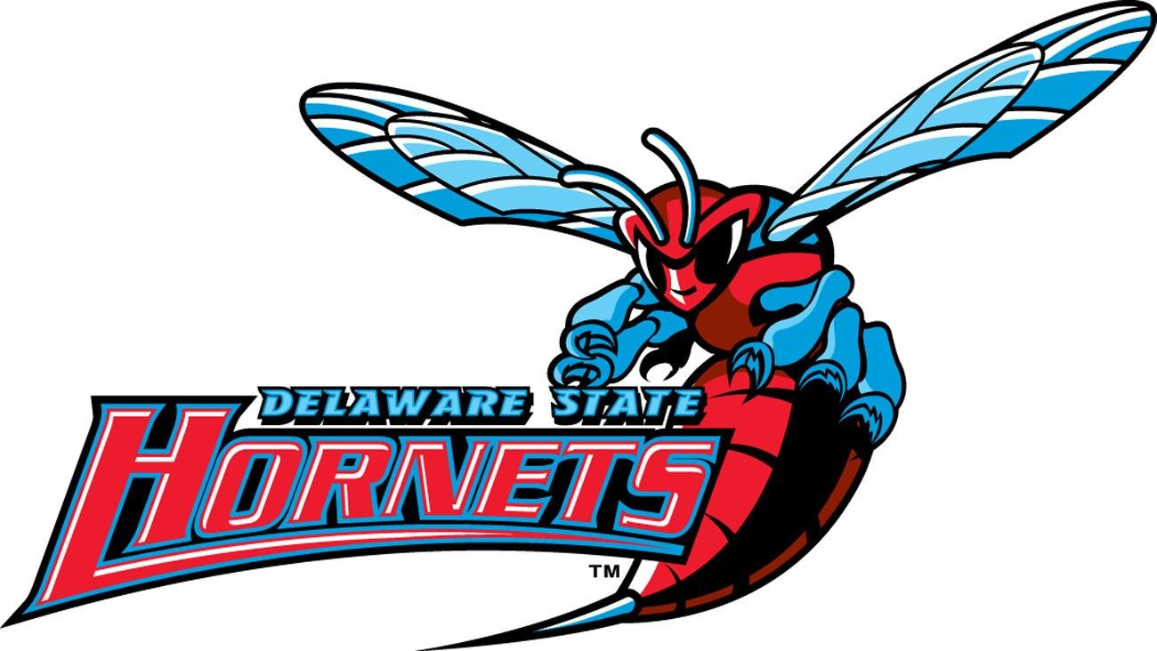 Delaware State Hornets A Red Hornet With Team Logo Delaware State Sports Team Logos Delaware