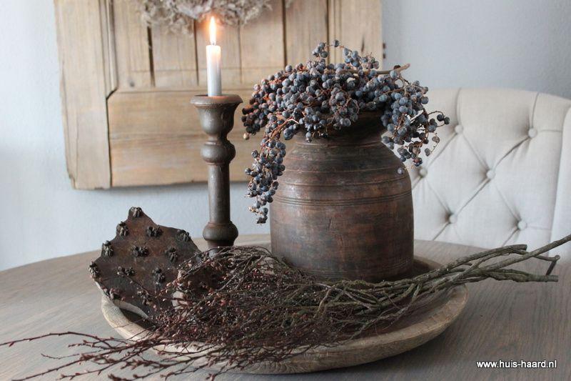 Robuust houten bord l schalen borden dienbladen huis haard landelijke woonaccessoires - Deco eetkamer oud ...