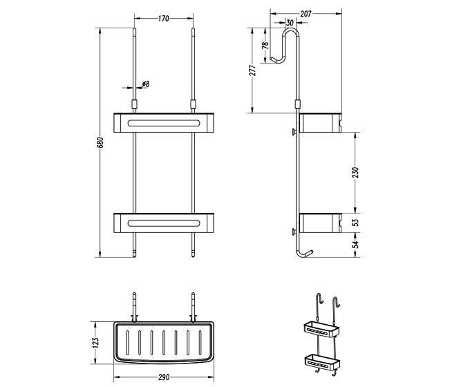Over Door Hanging Basket Double Shelf Shower Caddy Shower Caddy Hanging Shower Caddy Shower Shelves