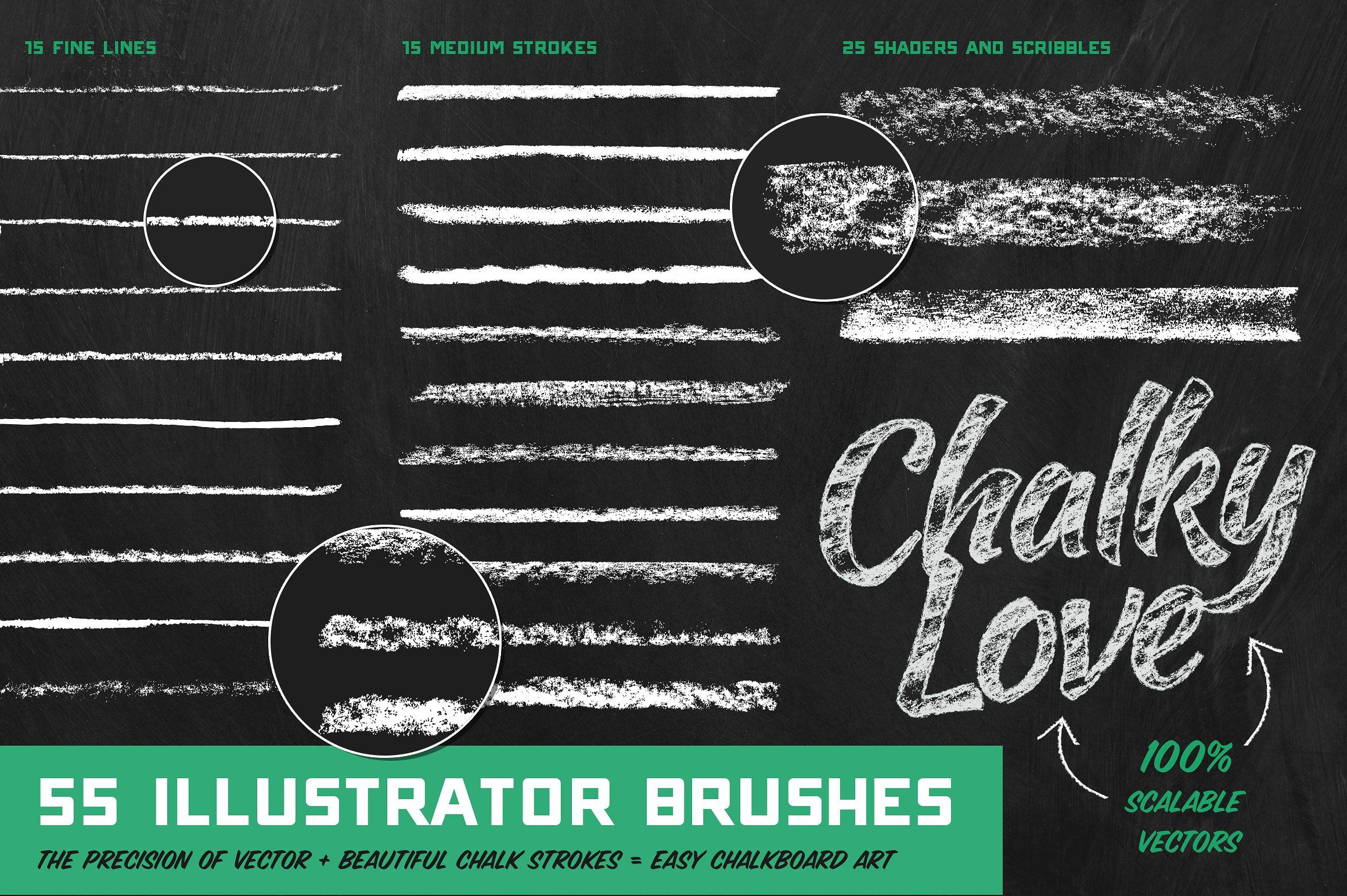Genuine Crafted Chalk For Ps Ai Illustrator Brushes Chalk Chalkboard Texture